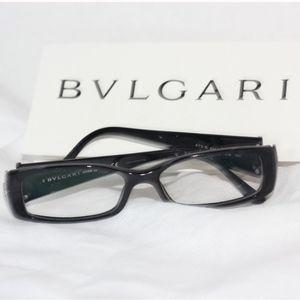 Black Embellished Bulgari Frames